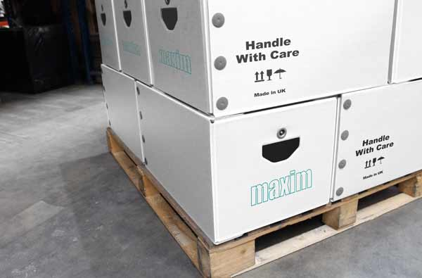 Custom designed returnable packaging